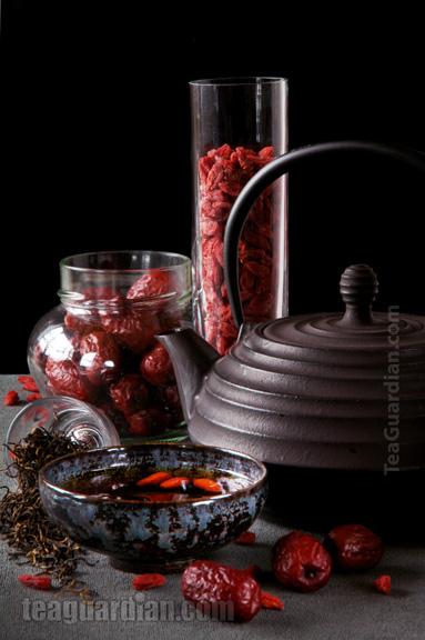 Jujube Minhong with Wolfberry tea