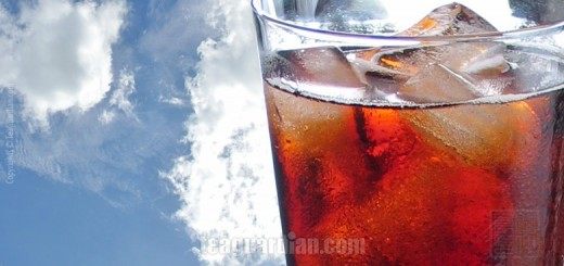 A large glass of iced tea? Second thoughts