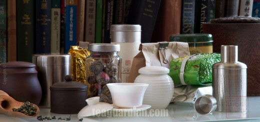 Various tea storage materials and containers