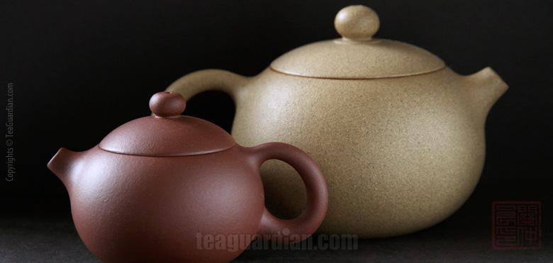 Yixing teapots two sizes