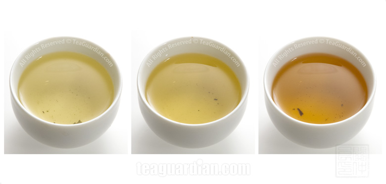 Comparing The Infusion Colour Of Gongfu Green Uva A Paochong Oo