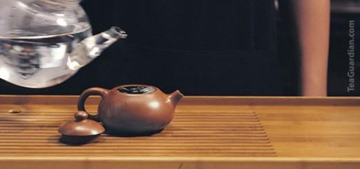 Gongfu Infusion Fundamental Steps: Blanch tea leaves