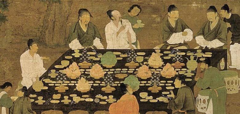 Hui Zhong: Wen Hui Tu ( Gathering of the Literaries ), detail