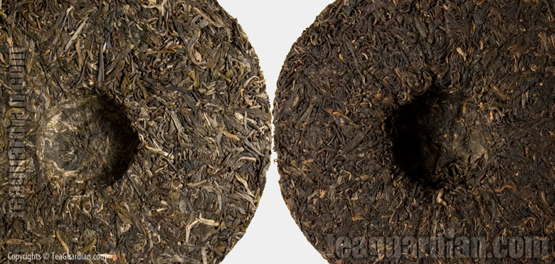 Two puer discus ( cha bing )