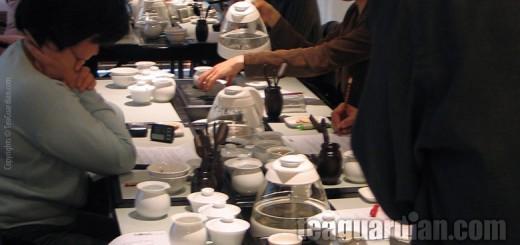 Gongfu tea study in a tea class setting